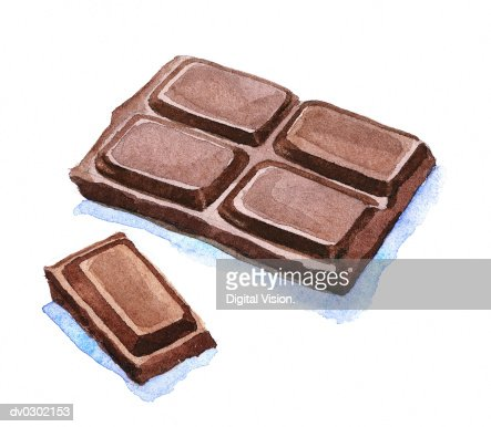 Block of Chocolate : Stock-Illustration