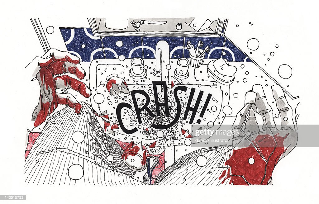 Blood and pills accident : Stock Illustration