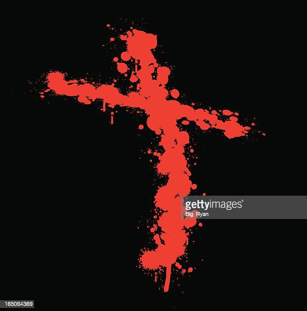blood splatter cross