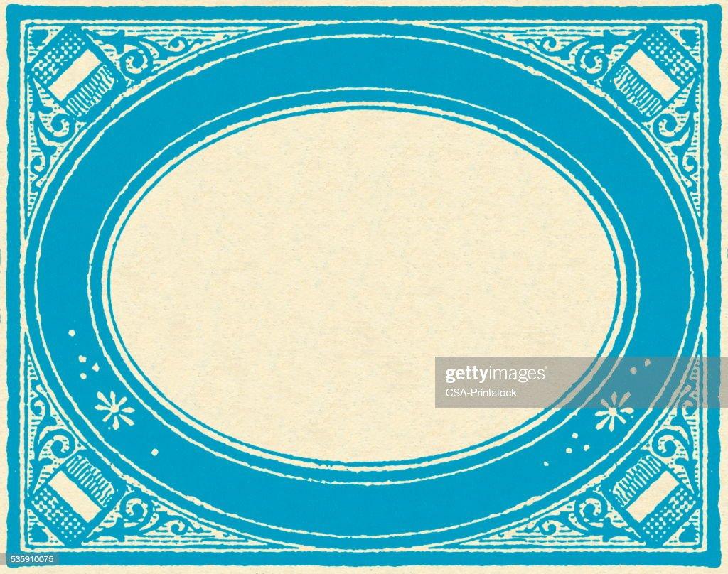 Limite azul : Ilustração de stock