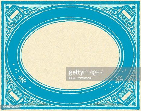 Blue Border : Stock Illustration
