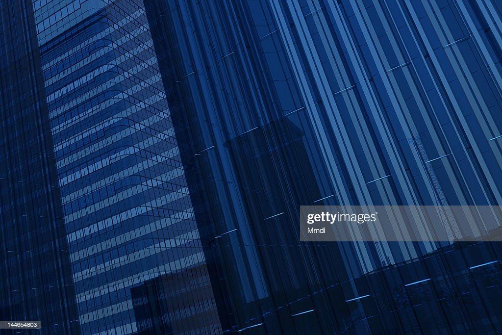 Blue Glass Building : Stock Illustration