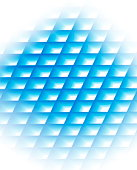 Blue grid, computer graphic, white background