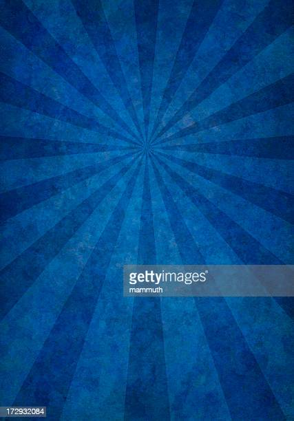 blue grunge background with rays
