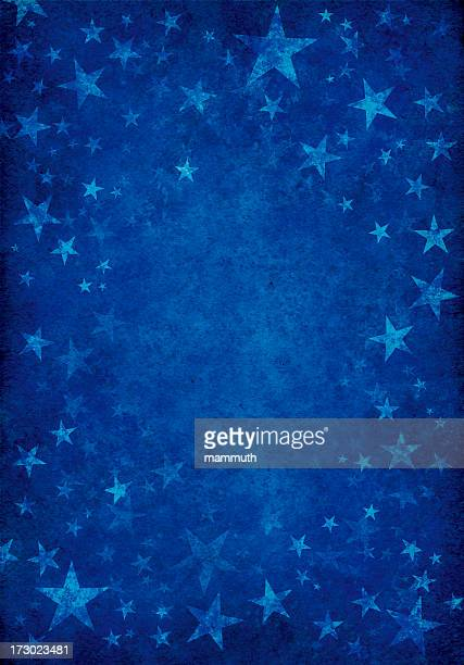 blue grunge background with stars