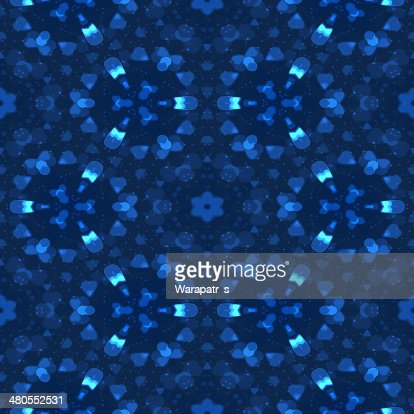 Azul coração abstrato bokeh de fundo colorido sem costura textura ba : Ilustração de stock