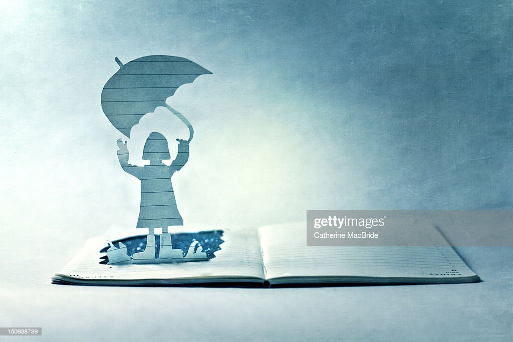Book with rainy day : Stock Illustration