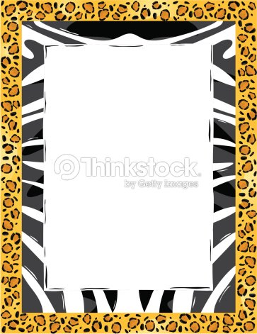 Border Animal Print Color Grouped Elements Vector Art | Thinkstock
