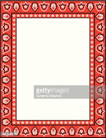 border bandanna color illustrator ver 5 vector art