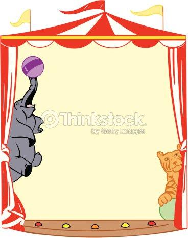 Border Circus Tent Color Illustrator Ver 5 Vector Art ...