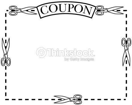 border coupon scissors grouped elements vector art thinkstock. Black Bedroom Furniture Sets. Home Design Ideas