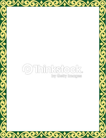 Border Decorative Gothic Color Vector Art