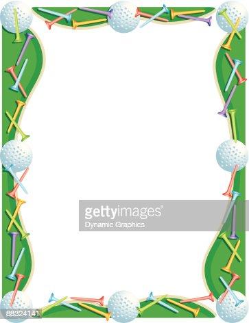 Golf ball border clip art