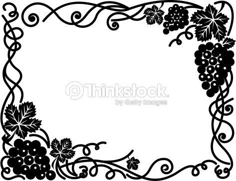 Border Grape Vines Vector Art   Thinkstock