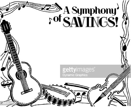 Border Heading A Symphony Of Savings Musical Instruments