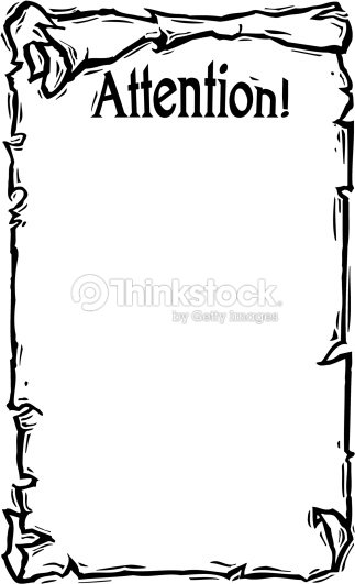 Border Heading Attention A Worn Out Scroll Frame Vector Art | Thinkstock