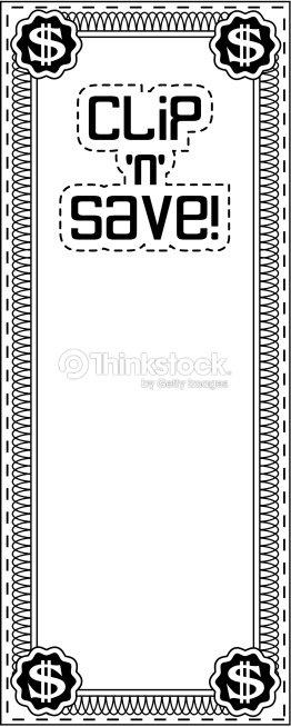 Border Heading Clip N Save Coupon Frame Money Vector Art | Thinkstock