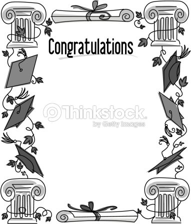 border heading congratulations graduation frame ベクトルアート
