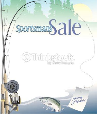 Border Heading Sportsmans Sale Fishing Frame Vector Art   Thinkstock