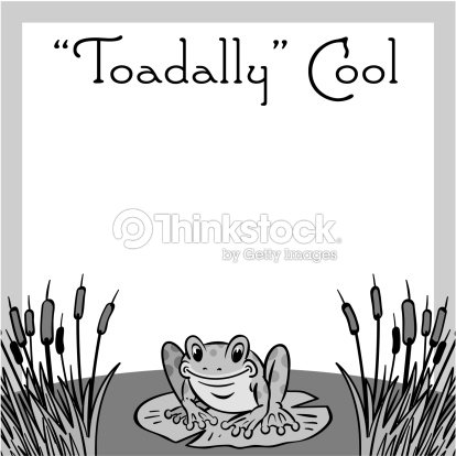 Border Heading Toadally Cool Frog Ad Frame Vector Art | Thinkstock