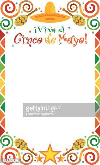 Border Heading Viva El Cinco De Mayo Cinco De Mayo Color ...