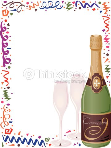 border new years eve elements champagne color grouped elements