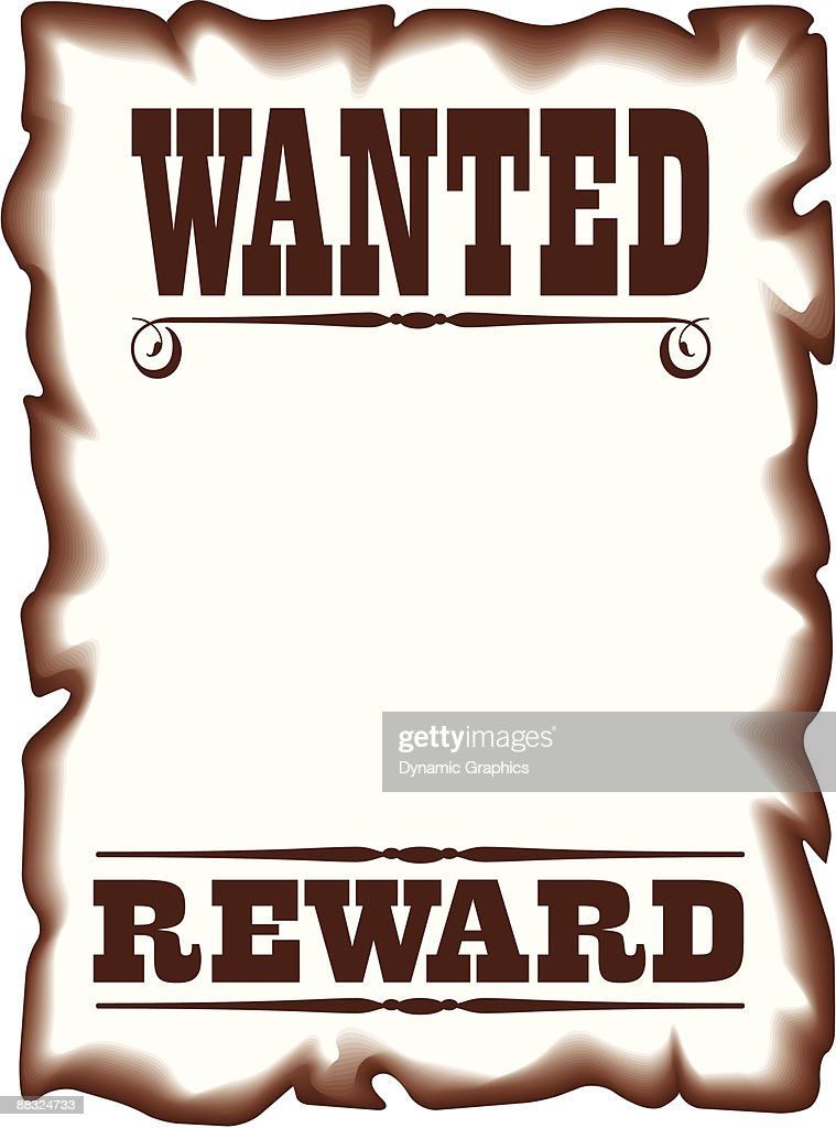 border wanted poster reward color grouped elements vector art rh thinkstockphotos com blank wanted poster clipart