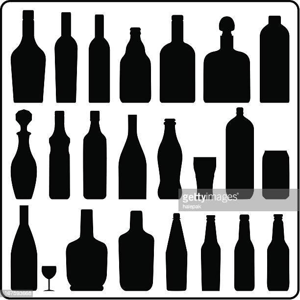 Bottle silhouettes