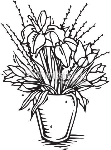 Bouquet Of Flowers In Vase Vector Art Thinkstock