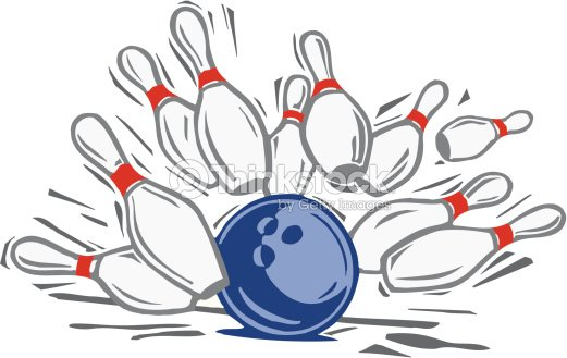 bowling ball striking pins color illustrator ver 5 grouped elements - Bowling Pictures To Color