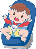 Boy sitting child seat