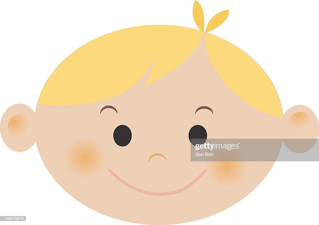 A boy with blonde hair : Stock Illustration