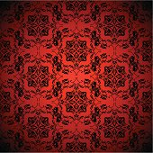 Bright blood red wallpaper with seamless repeating design