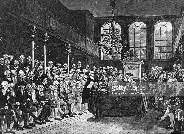 British Prime Minister William Pitt the Younger speaking in the House of Commons London Original Artwork Painting by Karl Anton Hickel