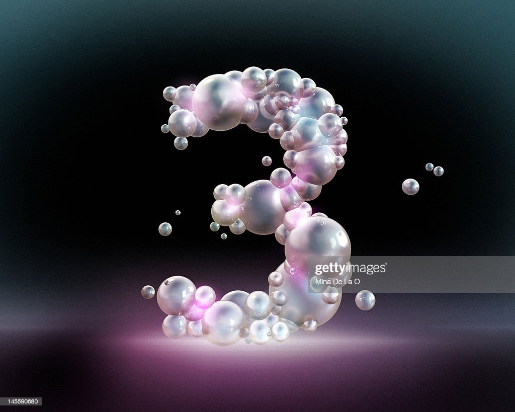 Bubbles number 3 : Stock Illustration