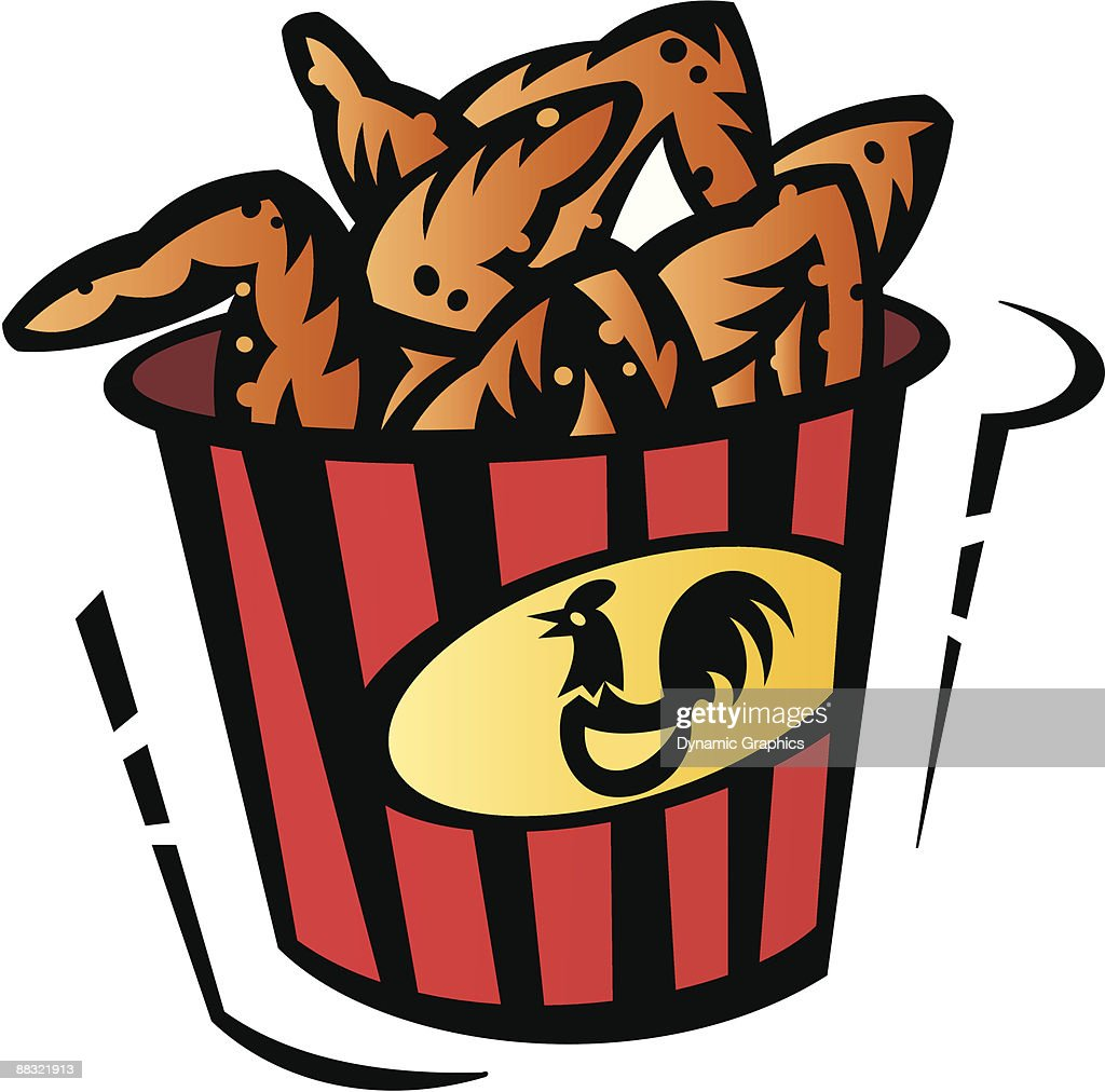 bucket of chicken wings color low res grouped elements vector art rh thinkstockphotos com