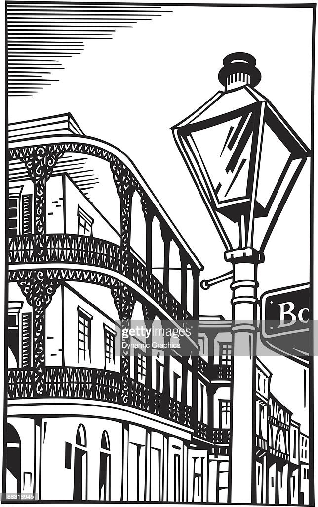 building with balconies in new orleans grouped elements the place to rh thinkstockphotos com New Orleans Clip Art Drawings New Orleans Skyline Clip Art