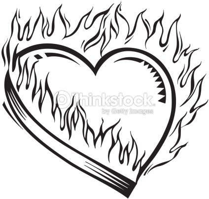 Burning Heart My Hearts On Fire For You Dont Get Burned By ...