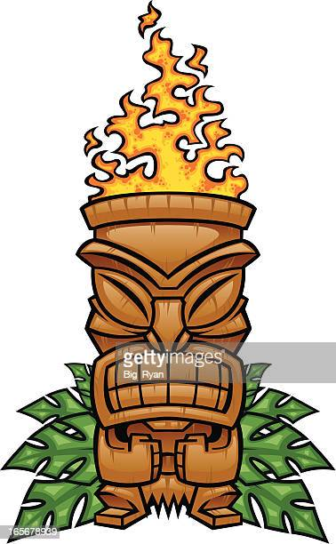 tiki torch stock illustrations and cartoons getty images