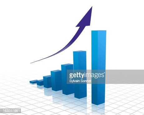 Business growth graph : Stock Illustration