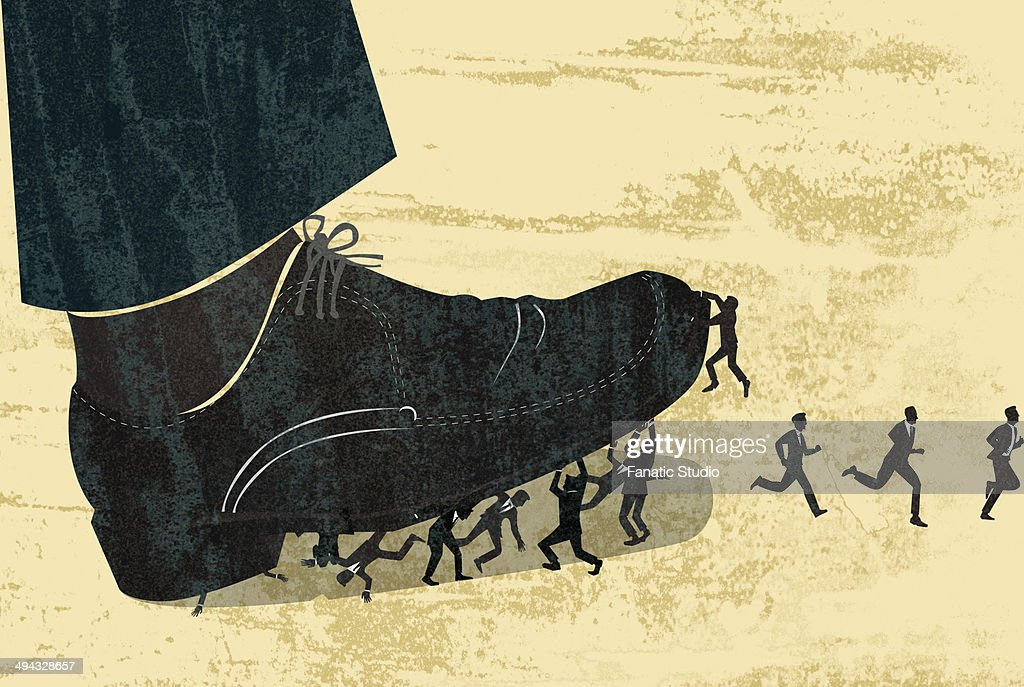 Business people getting stepped on : Stock Illustration