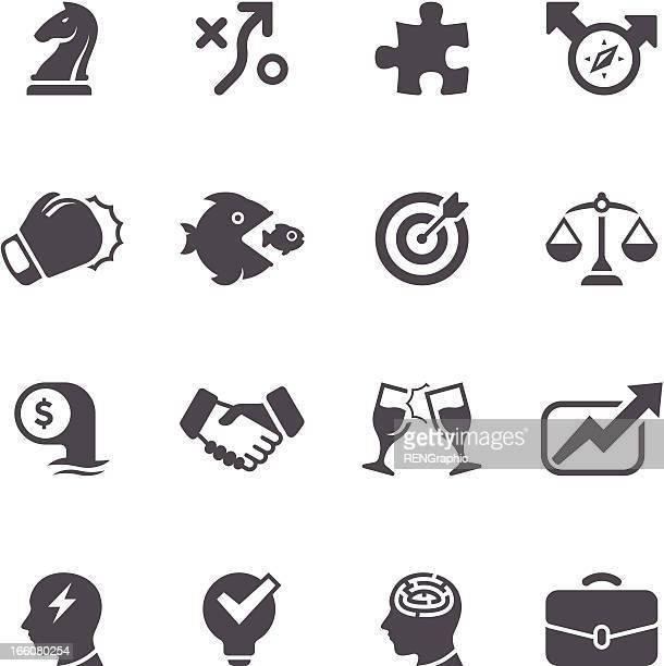 Business Strategy Icon Set | Unique Series