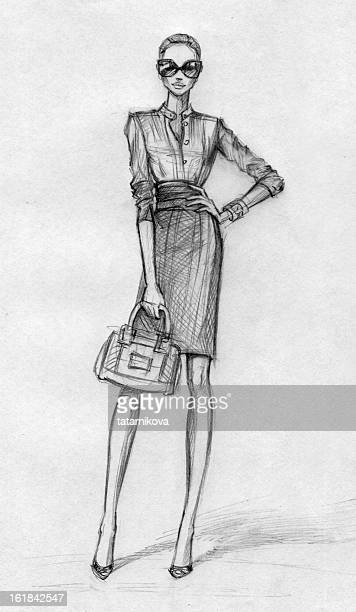 Business woman (black-and-white)