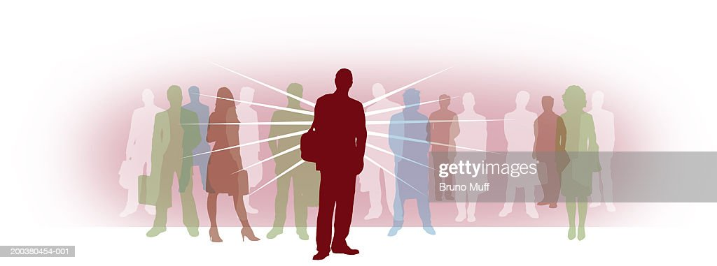 Businessman, people in background : Stock Illustration