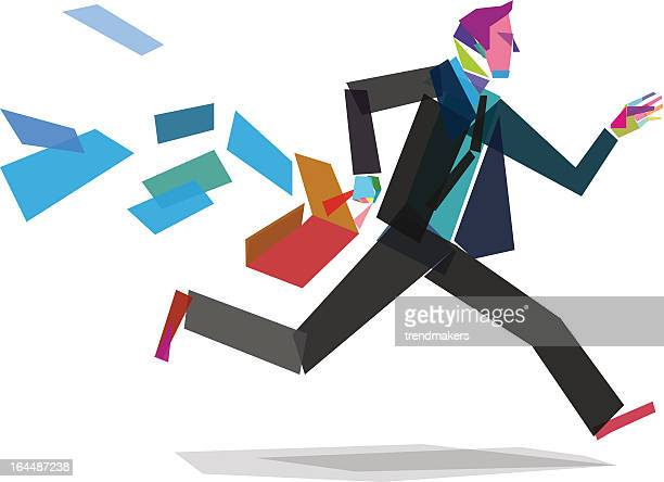 Businessman runs