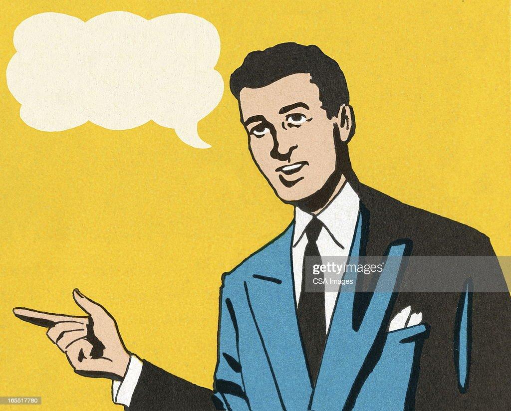 Businessman Speaking : Stock Illustration