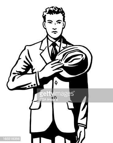 Businessman Standing with Respect : Stock Illustration