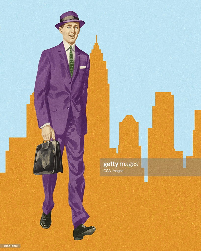 Businessman Walking in the City : Stock Illustration