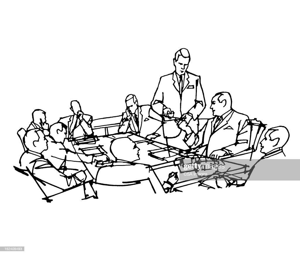 Businessmen in Meeting : Stock Illustration