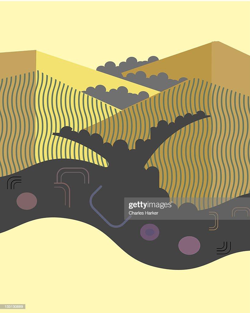 California coastal hills : Stock Illustration